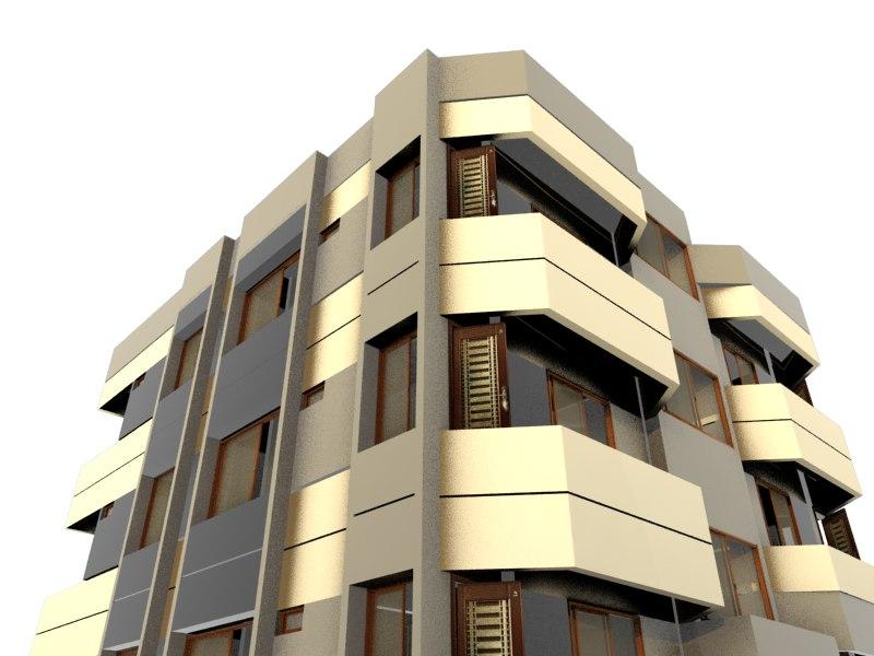 3D multi-story house