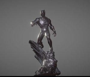 3D model black panther inspirited diorama