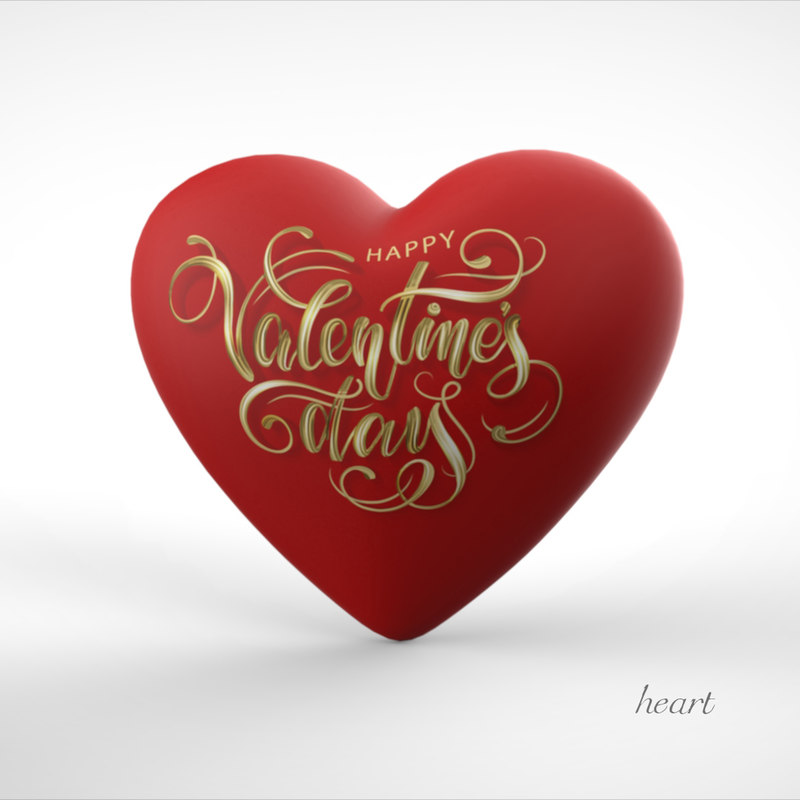 heart valentines day 3D model