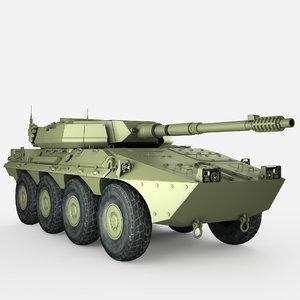 3D model centauro italian military