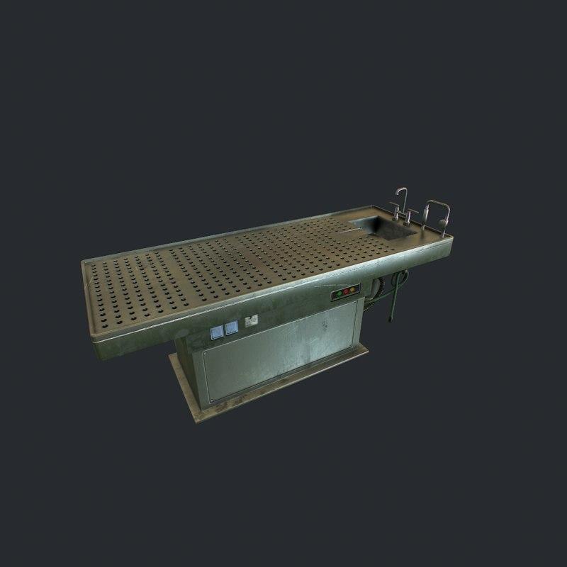 autopsy table pbr 3D