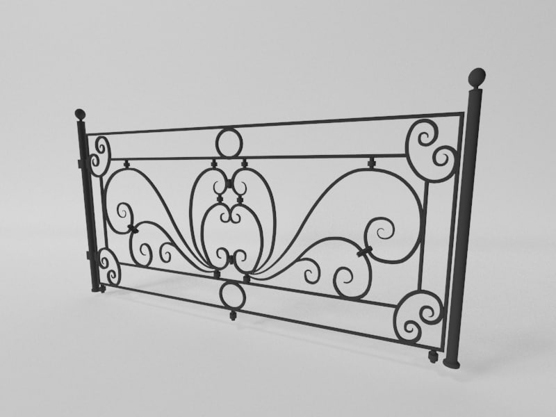 3D wrought iron gates model