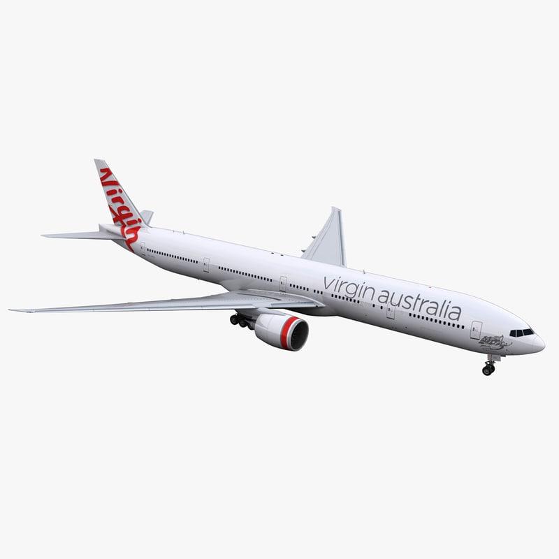 3D 777-300 virgin australia