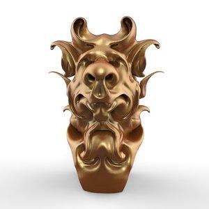 3D bust jester model