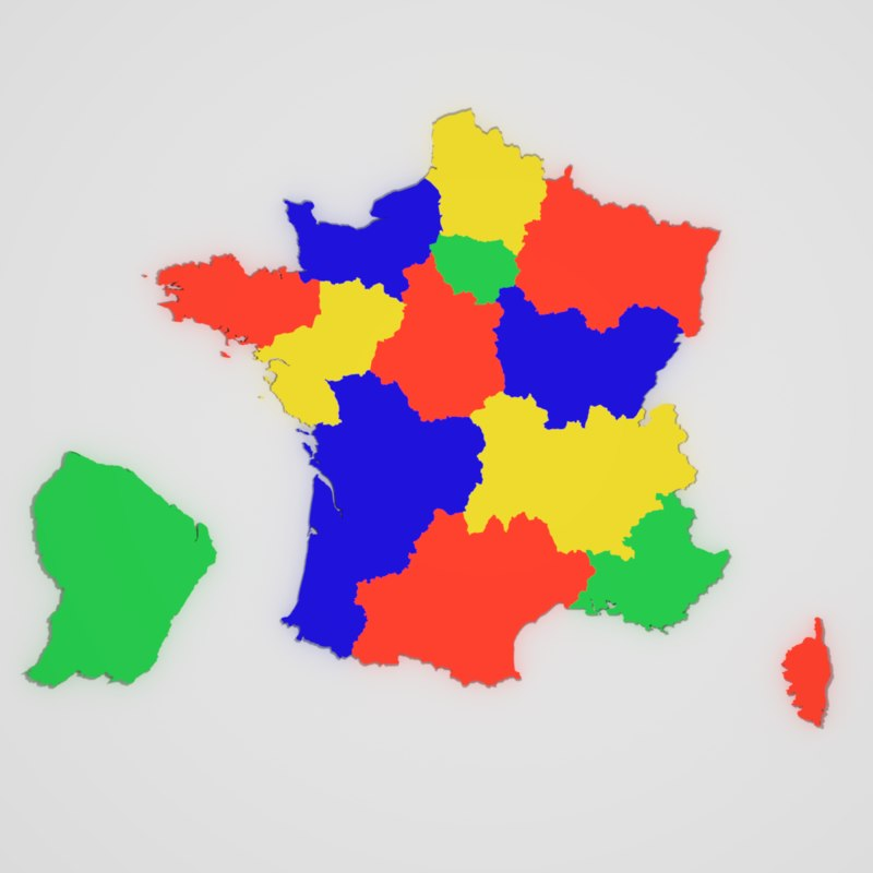 Map Of France With States.Map Of France