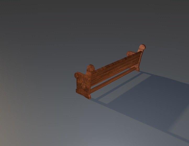 3D model seat