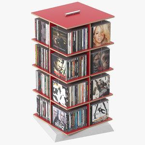 shelf musikstapler 3D
