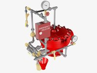 3D deluge valve conventional trim model