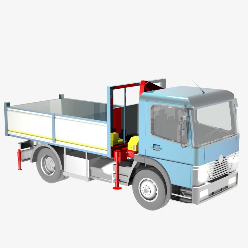 autocarro medio 3D model