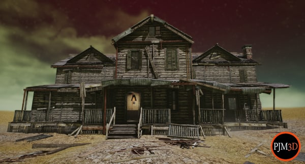 3D ue4 abandoned wooden house