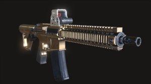 mk18 pack 3D model