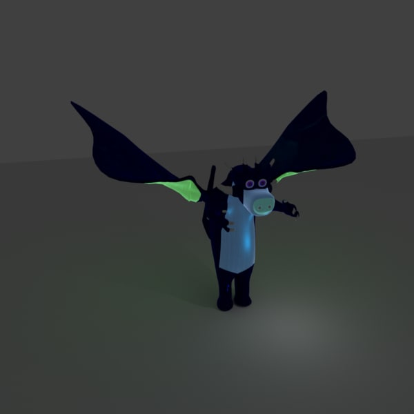 cow dragon character model