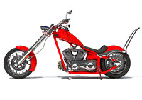 3D chopper motorcycle