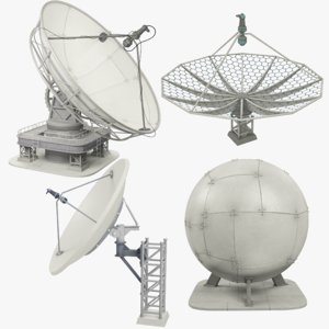 3D satellite dishes set v2
