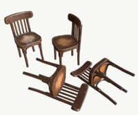 stylized old chair 3D model