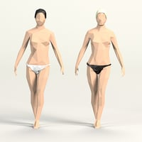 cartoon toon female 3D model