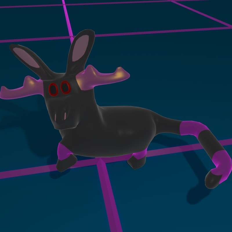 3D model bunny boar