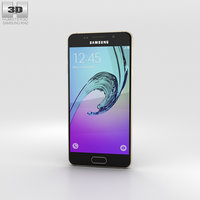 3D samsung a3 galaxy model