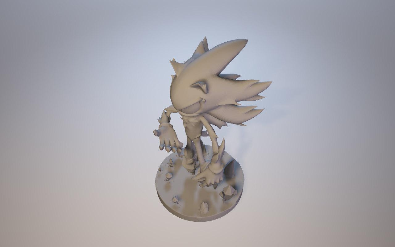 mephiles dark sonic x 3D model