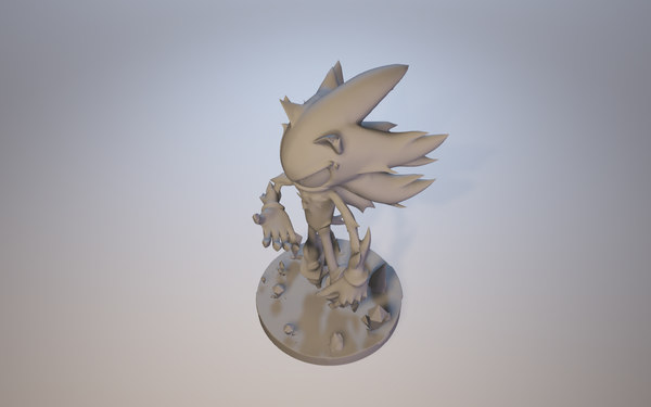 mephiles dark sonic x 3D model