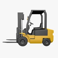 3D forklifts model