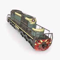 3D model locomotive ready games