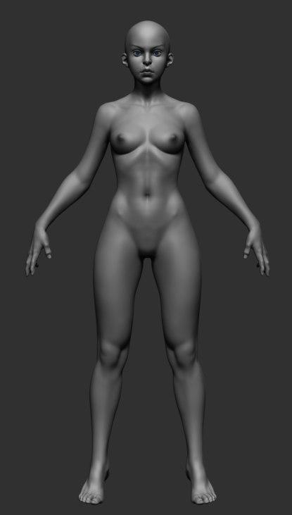 stylized female model