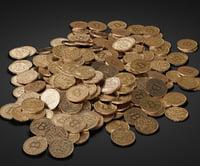 pile bitcoins 3D model