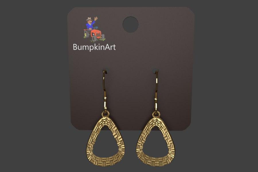 3D display earrings