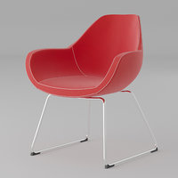 modern red fabric office chair model