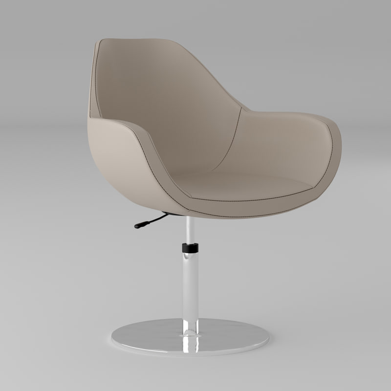 modern leather office chair 3D