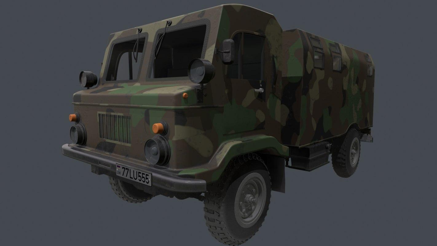 gaz 66-02 3D model