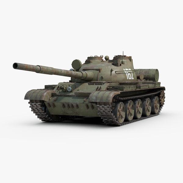 3d model soviet t62 tank tracks