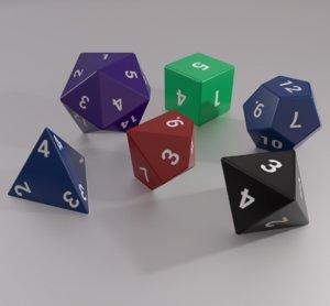 polyhedral dice set - model