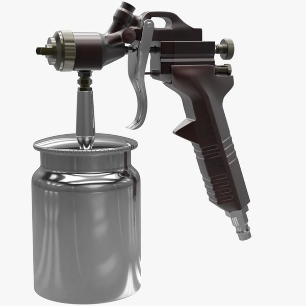 3D model pressure spray gun v2