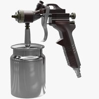 3D model pressure spray gun v2
