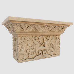 oriental column capital model