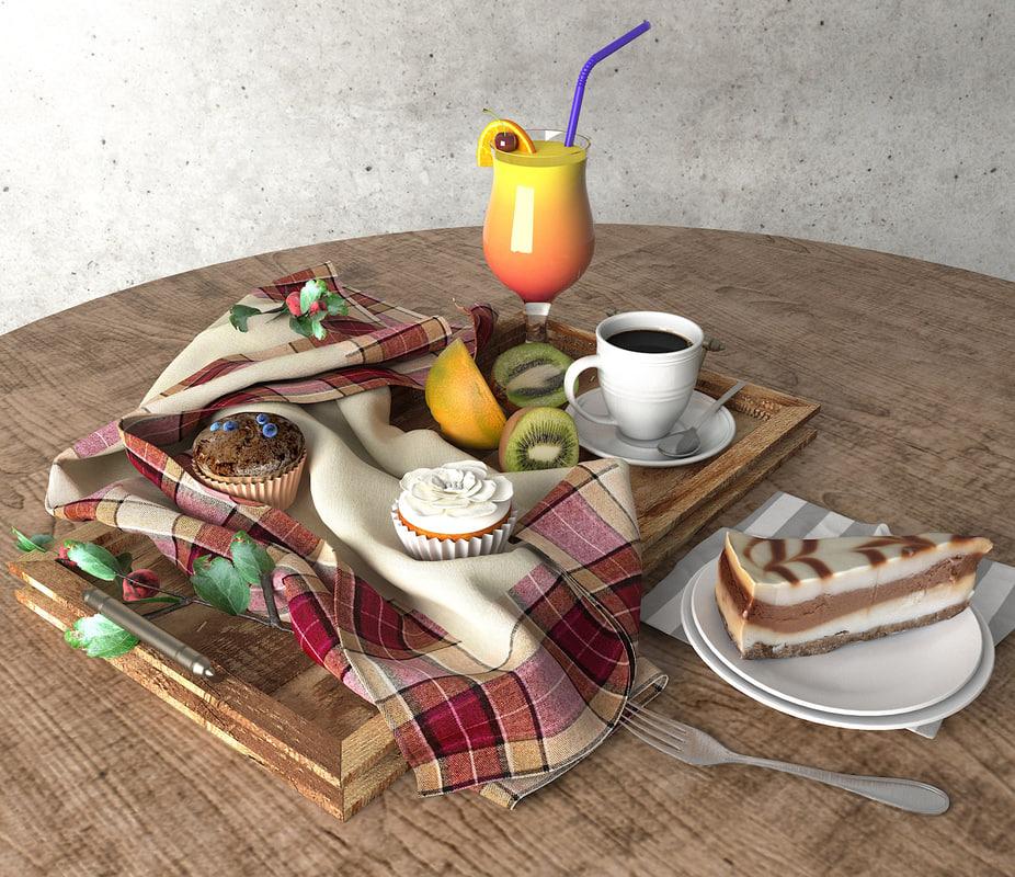 3D food drink model