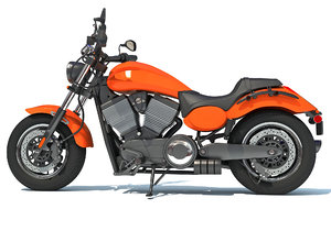cruiser motorcycle 3D model