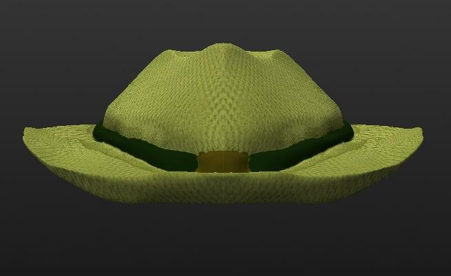green fedora 3D model