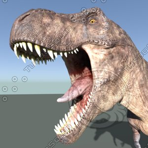 3D t rex rigged animation