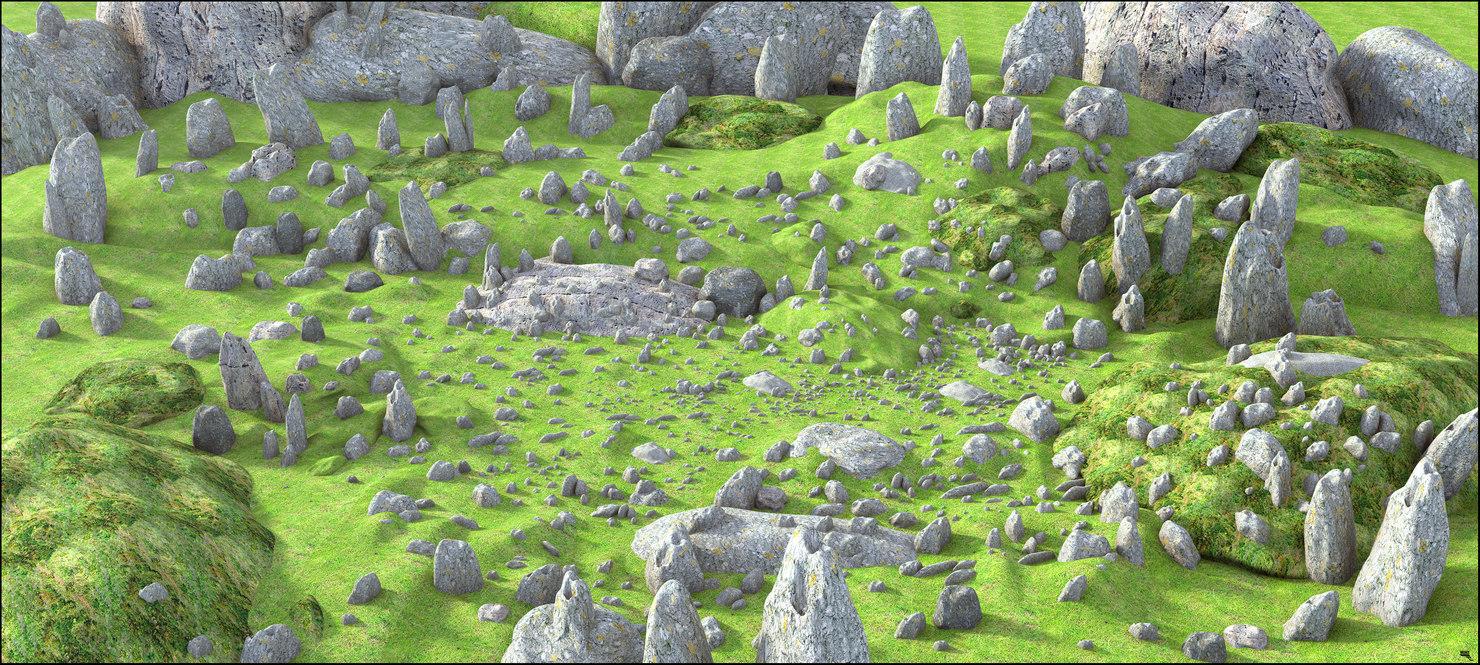rock mountain environment model