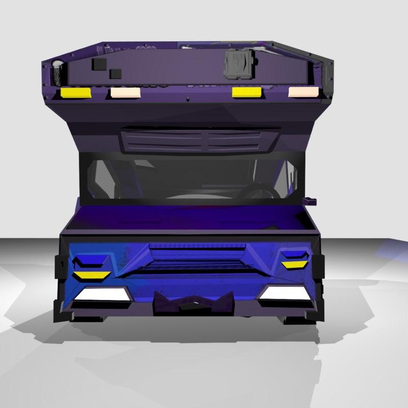 3D truck syfy computer interface