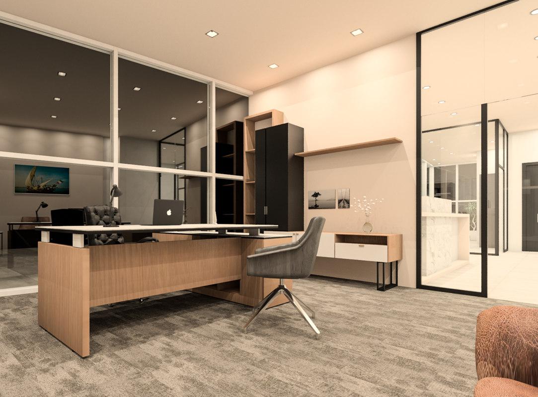 3D modern offices revit model
