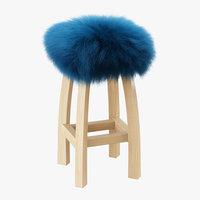 wool gwyn baa bar stool 3D model