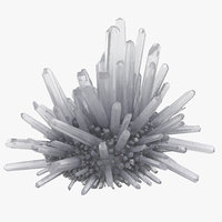 3D model natural crystal group