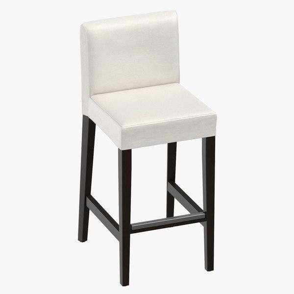 scandinavian bar stool 3D