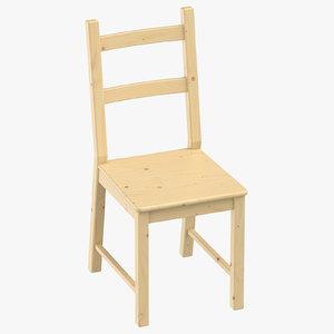 3D scandinavian chair