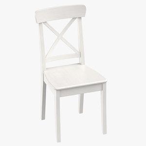 scandinavian dining chair 3D model