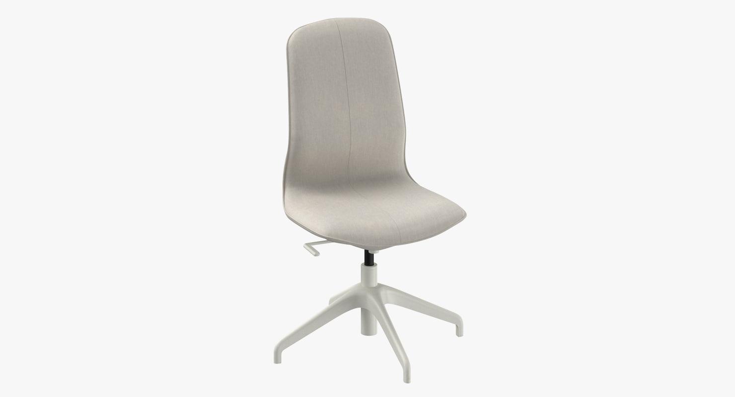 Scandinavian Office Chair 3d Model